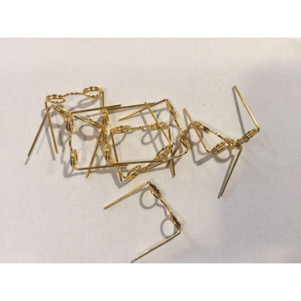 Aranyszínű fém dekorációs szemüvegkeretek - 25mm - 10db