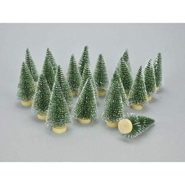 Mini dekor műfenyő zöld 6cm - 5db