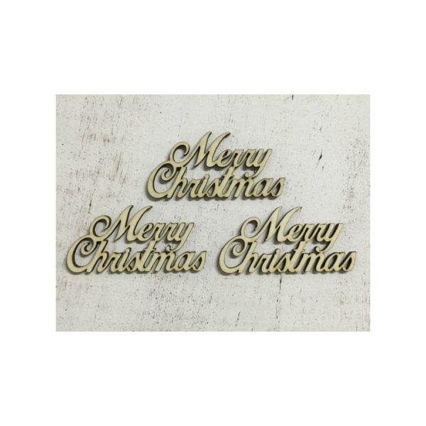 "Natúr fa - ""Merry Christmas"" felirat - kicsi"