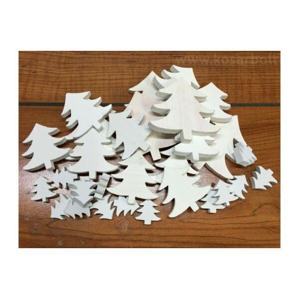 Fehér fa fenyőfák vegyes méret - 10db