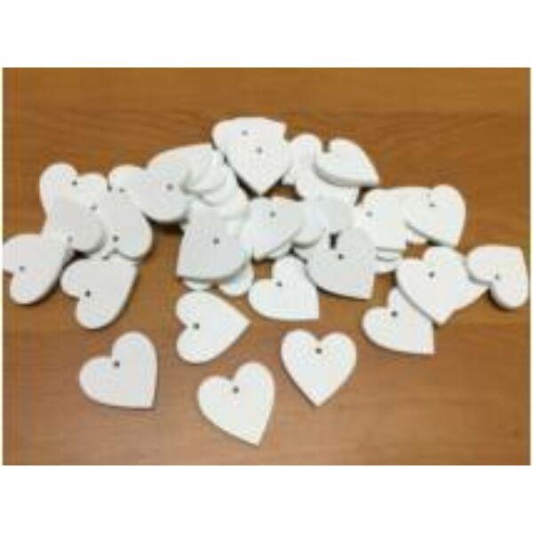 Fehér fa szívek 3cm - 10db