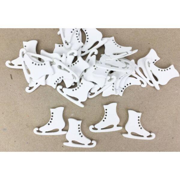 Fehér korcsolya 3cm - 10db