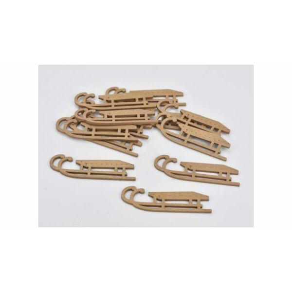Arany fa szánkó 8cm - 4db