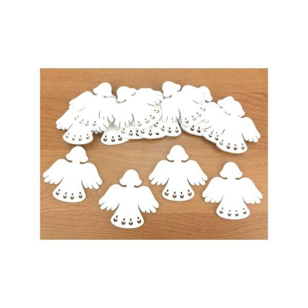 Fehér fa angyalka 5cm - 5db