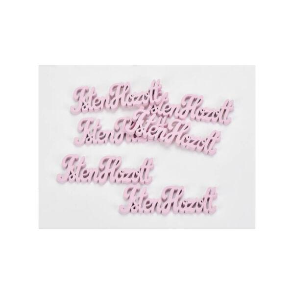 """Rózsaszín fa - """"Isten Hozott"""" felirat - 10cm"""