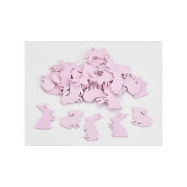Rózsaszín fa nyuszik - 4cm - 10db