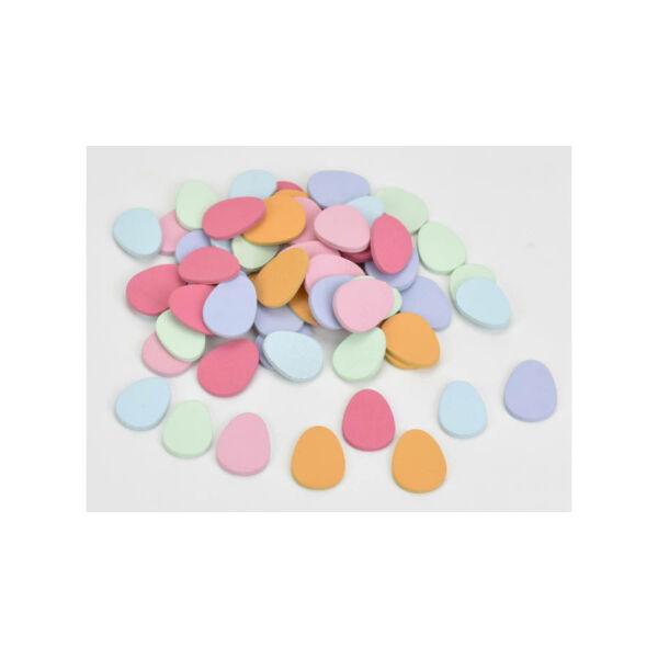 Fa tojás dekorációk - 3cm - 10db - színes