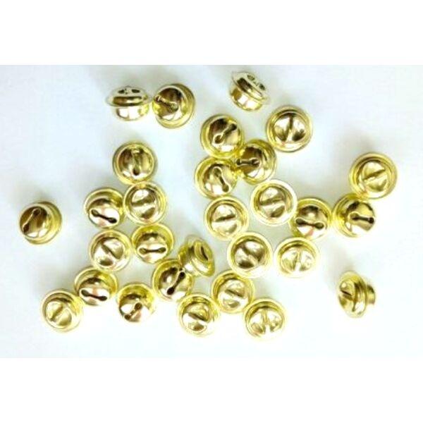 Arany színű fém kolomp csomag - 1,5cm - 10db