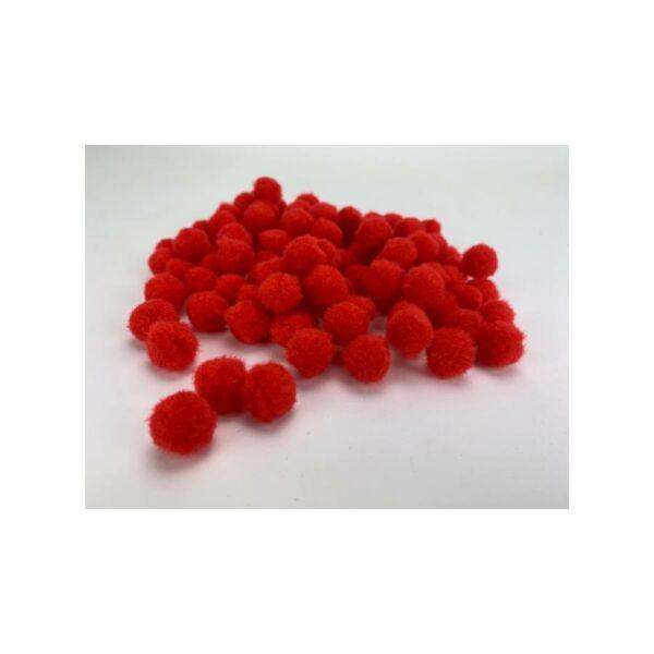 Piros pom-pom bojt csomag - 1,5cm - 100db