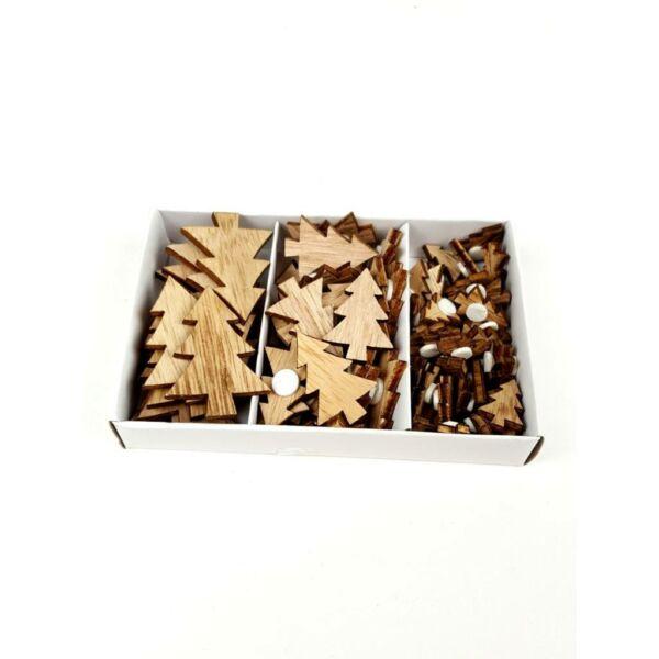 Öntapadós fa dekorációs csomag - fenyőfák - 10db