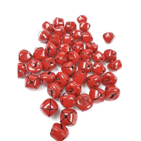Piros színű fém kolomp csengő csomag - 1,4cm - 10db