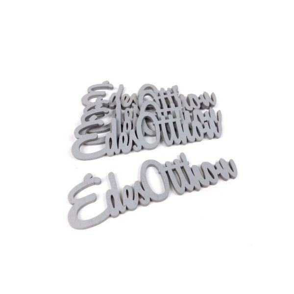 Szürke fa - Édes Otthon felirat - 10cm