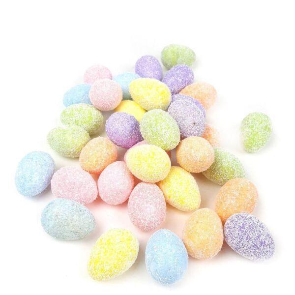 Színes polisztirol tojás - reszelékes - 4 cm - 36db