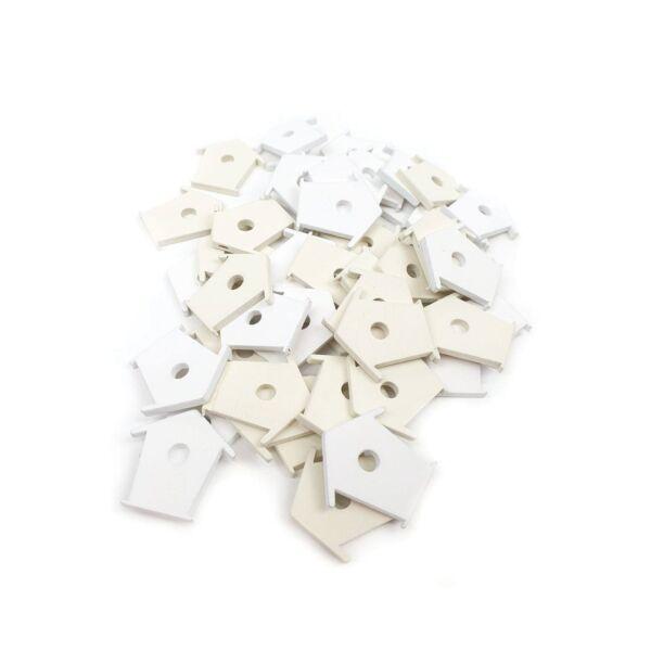 Madáretető formájú fa dekoráció csomag - krém + fehér - 10db
