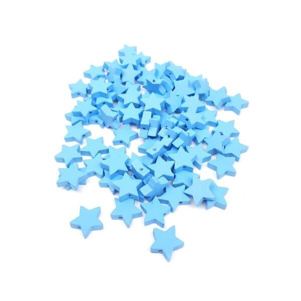 Fűzhető fa csillagok - kék - 20db
