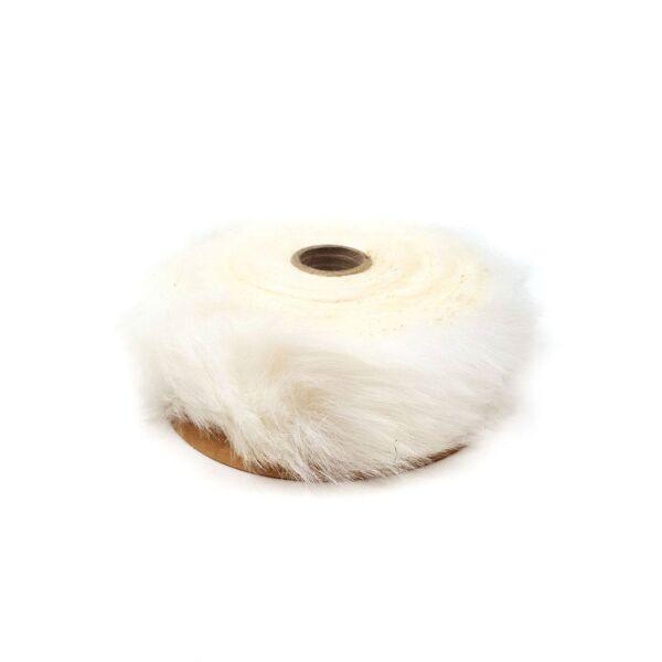 Műszőrme tekercs - 2m - fehér