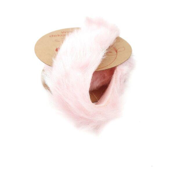 Műszőrme tekercs manószakáll - 2m - rózsaszín