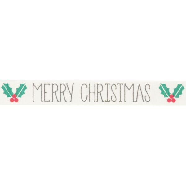 100% pamut szalag csomag - Merry Christmas Holly