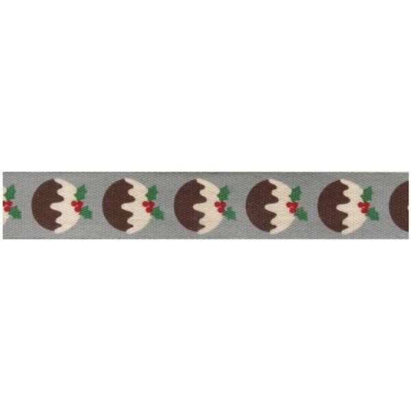 100% pamut szalag csomag - Christmas Pud Grey