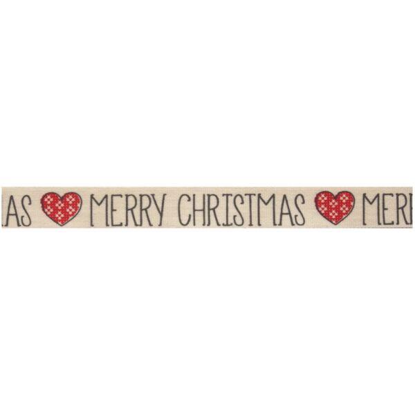 100% pamut szalag csomag - Fair Isle Heart Merry Christmas