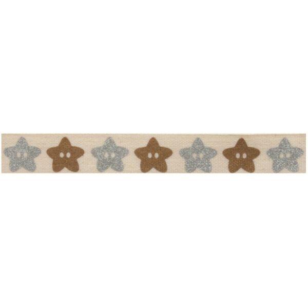100% pamut szalag csomag - Glitter Star Buttons