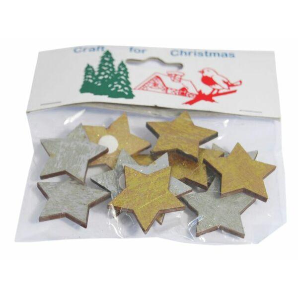 Öntapadós fa furnér dekorációs csomag - antik csillagok
