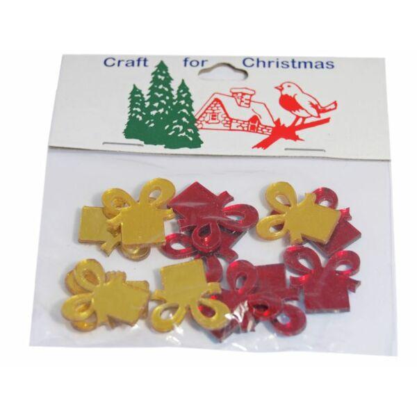 Tükrös műanyag karácsonyi dekorációs csomag - ajándék