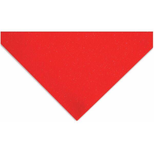 Csillámos barkácsfilc - piros - PUHA