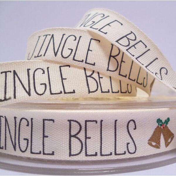 100% pamut szalag csomag - Jingle Bells