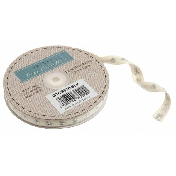 Csillogó szív mintás pamut szalag csomag - Silver