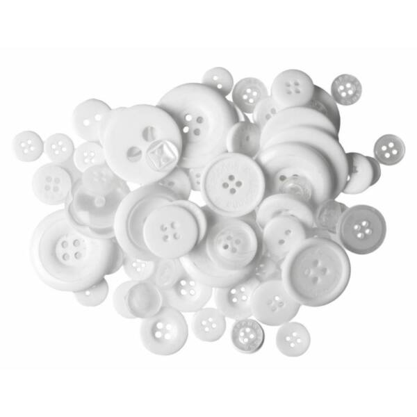 Trimits Bag of Craft Buttons - White