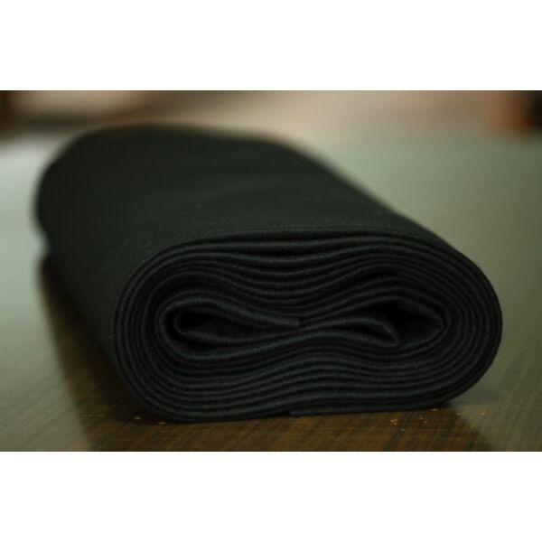 Pihe - puha gyapjúfilc méteráru - fekete
