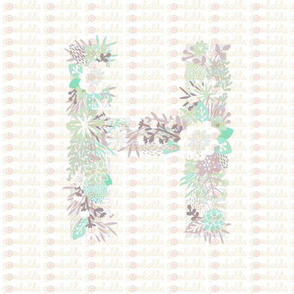Mintás barkácsfilc - varázslatos unikornis - M széria - H betű