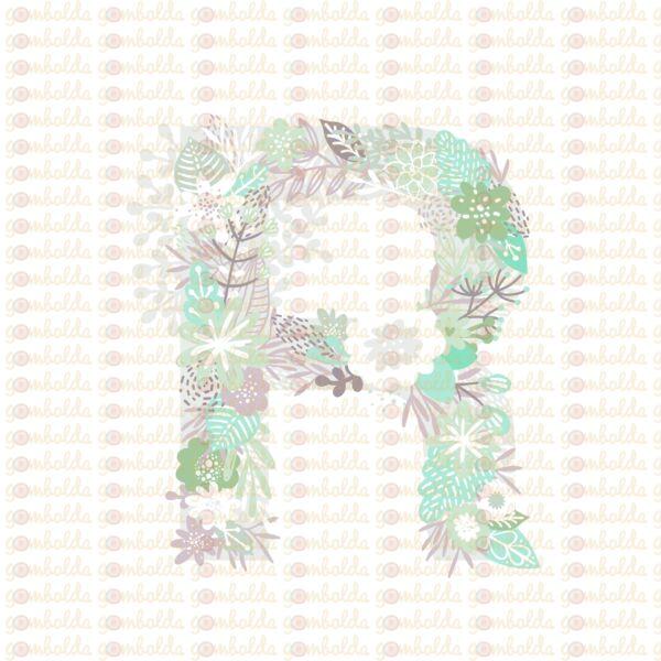 Mintás barkácsfilc - varázslatos unikornis - M széria - R betű