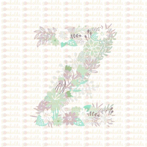 Mintás barkácsfilc - varázslatos unikornis - M széria - Z betű